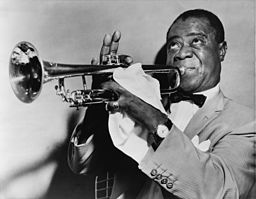 Pictured: Louis Armstrong, jazzing it up.